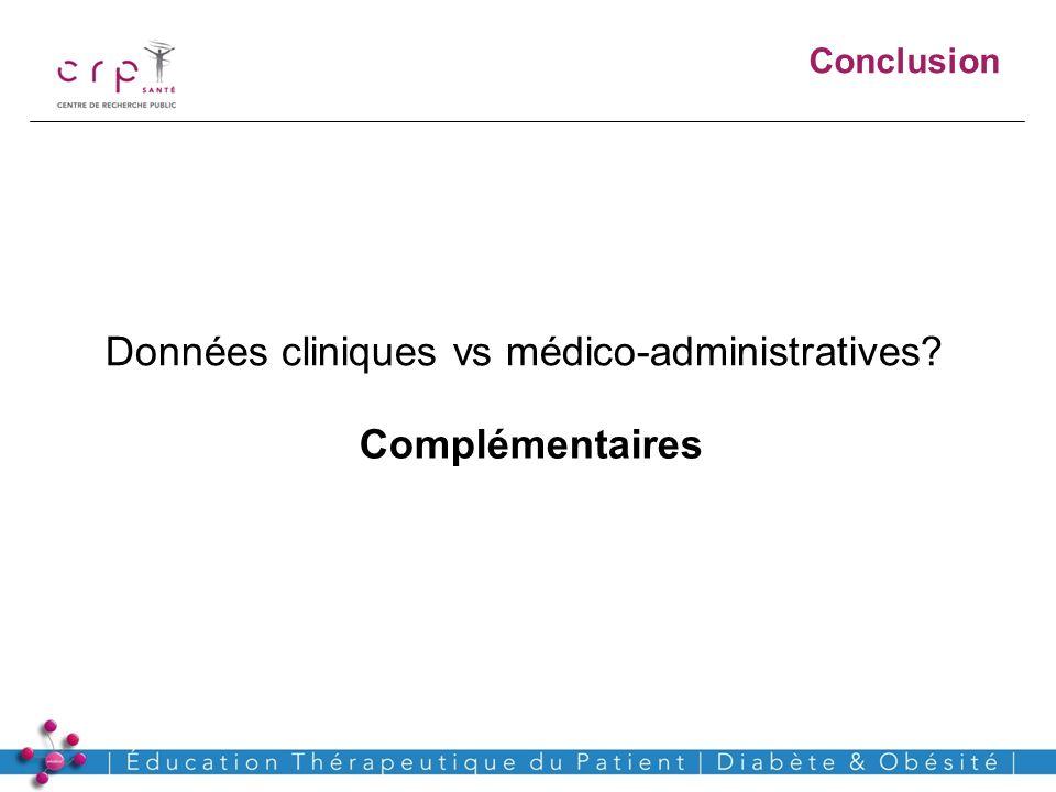 Données cliniques vs médico-administratives