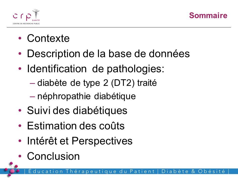 Description de la base de données Identification de pathologies: