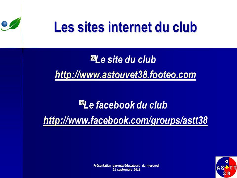 Les sites internet du club