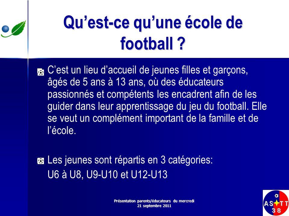 Qu'est-ce qu'une école de football