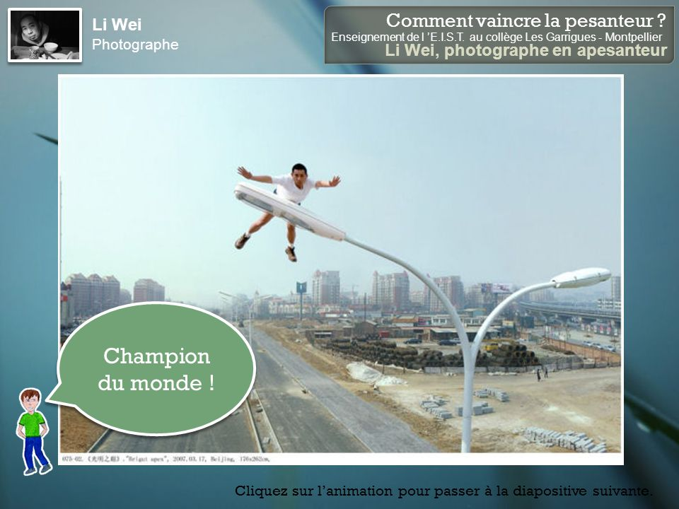 Li Wei Photographe Champion du monde !