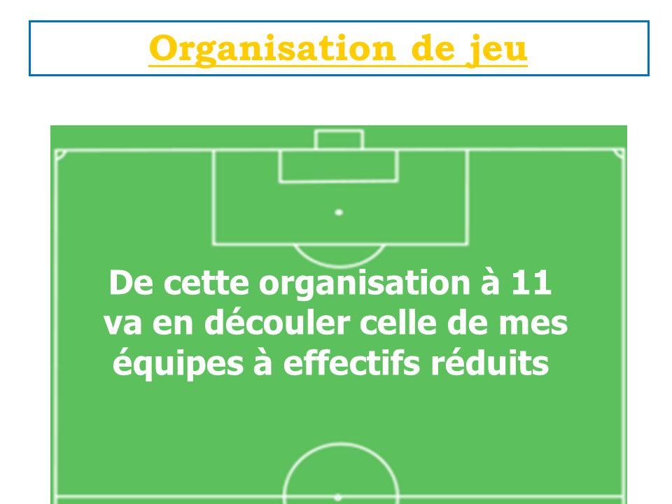 Organisation de jeu De cette organisation à 11