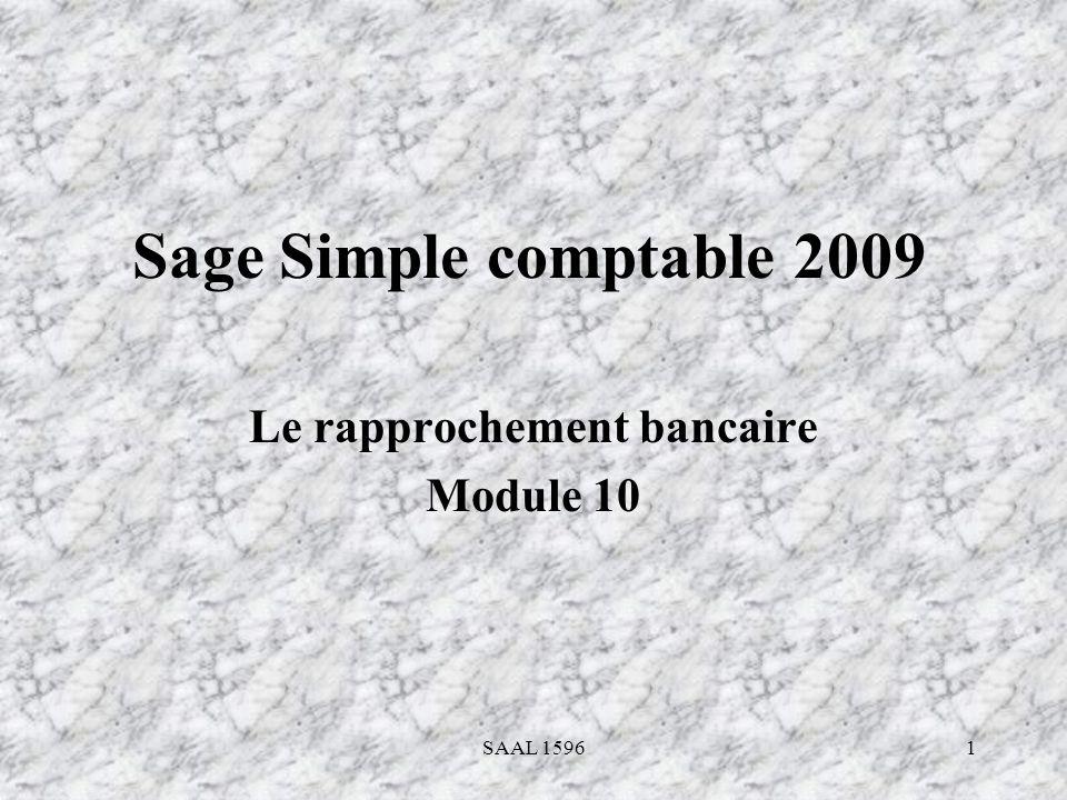 SAAL 1596 Le rapprochement bancaire Module 10