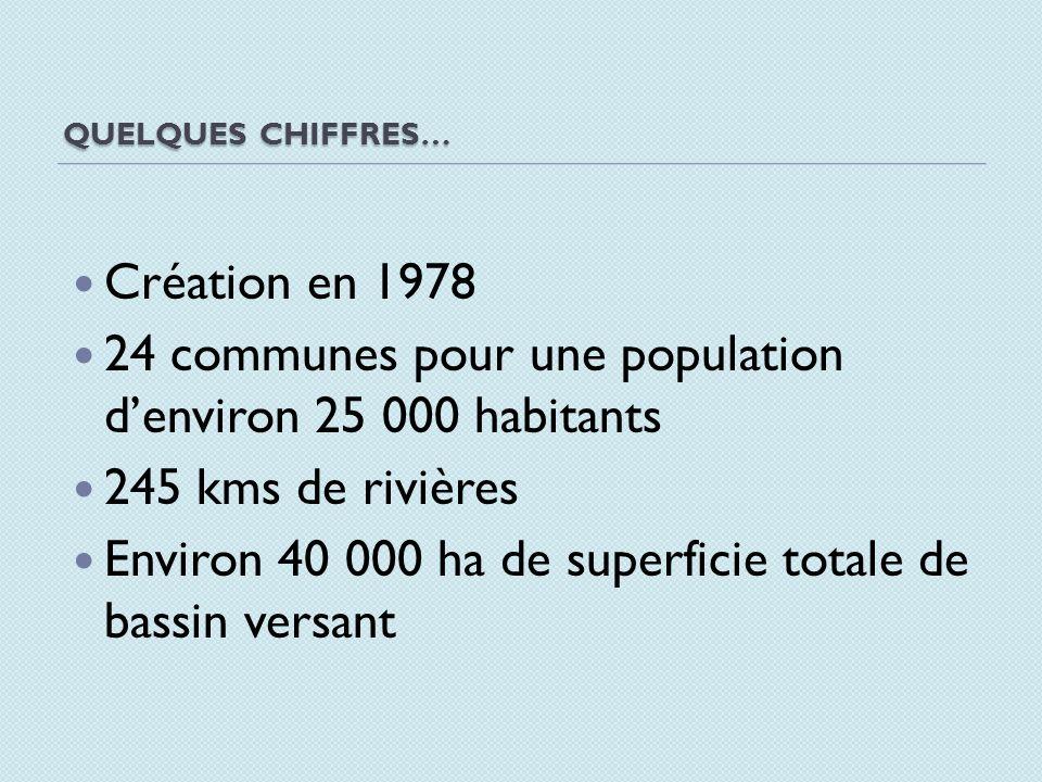 24 communes pour une population d'environ 25 000 habitants