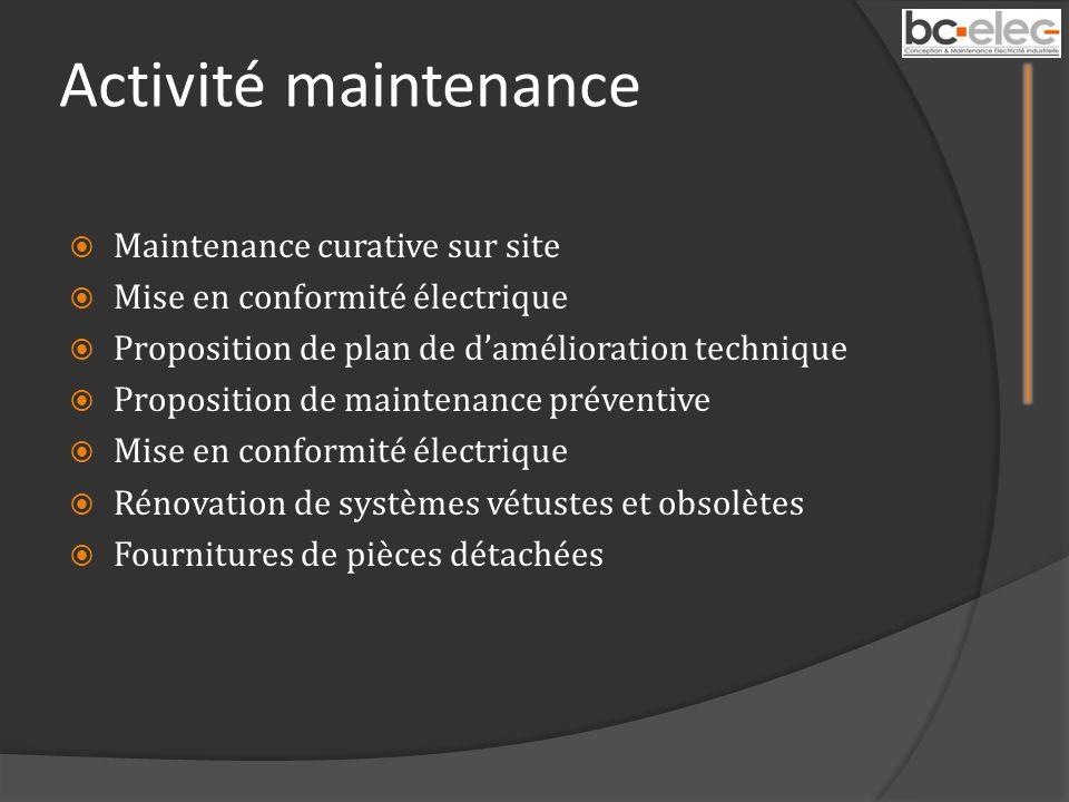 Activité maintenance Maintenance curative sur site