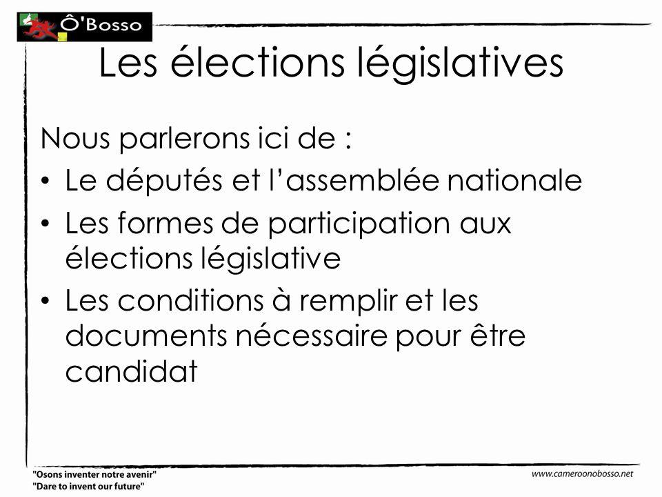Les élections législatives