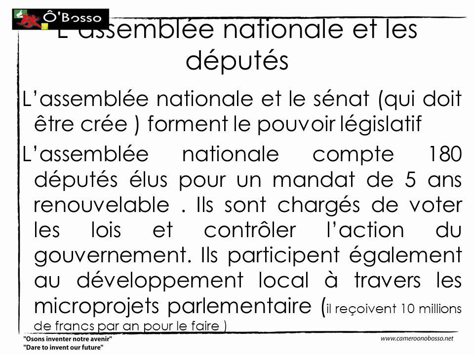 L'assemblée nationale et les députés