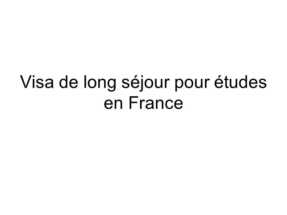 Visa de long séjour pour études en France
