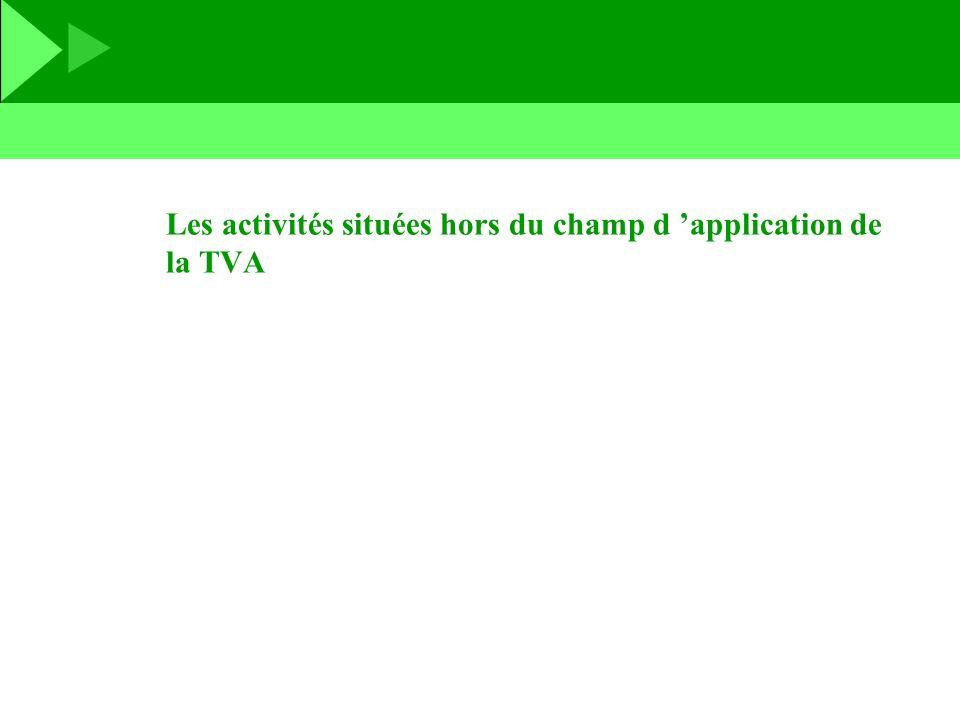 Les activités situées hors du champ d 'application de la TVA
