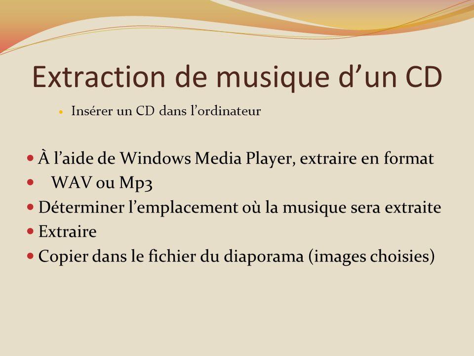 Extraction de musique d'un CD