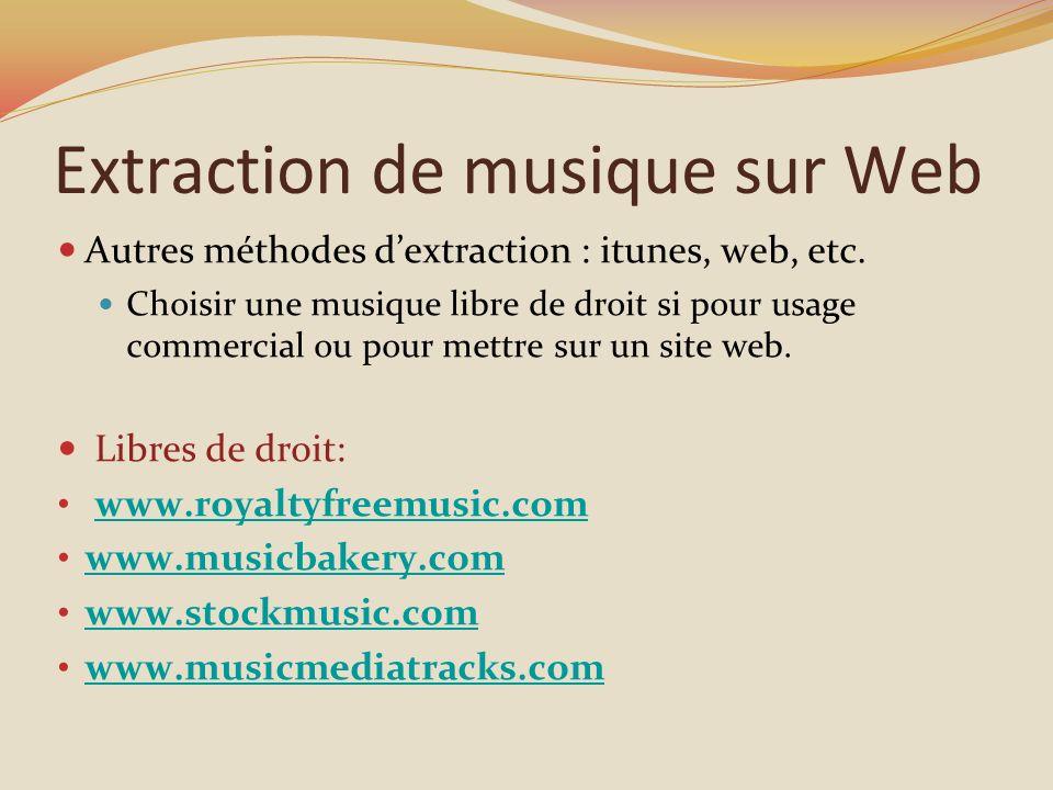 Extraction de musique sur Web