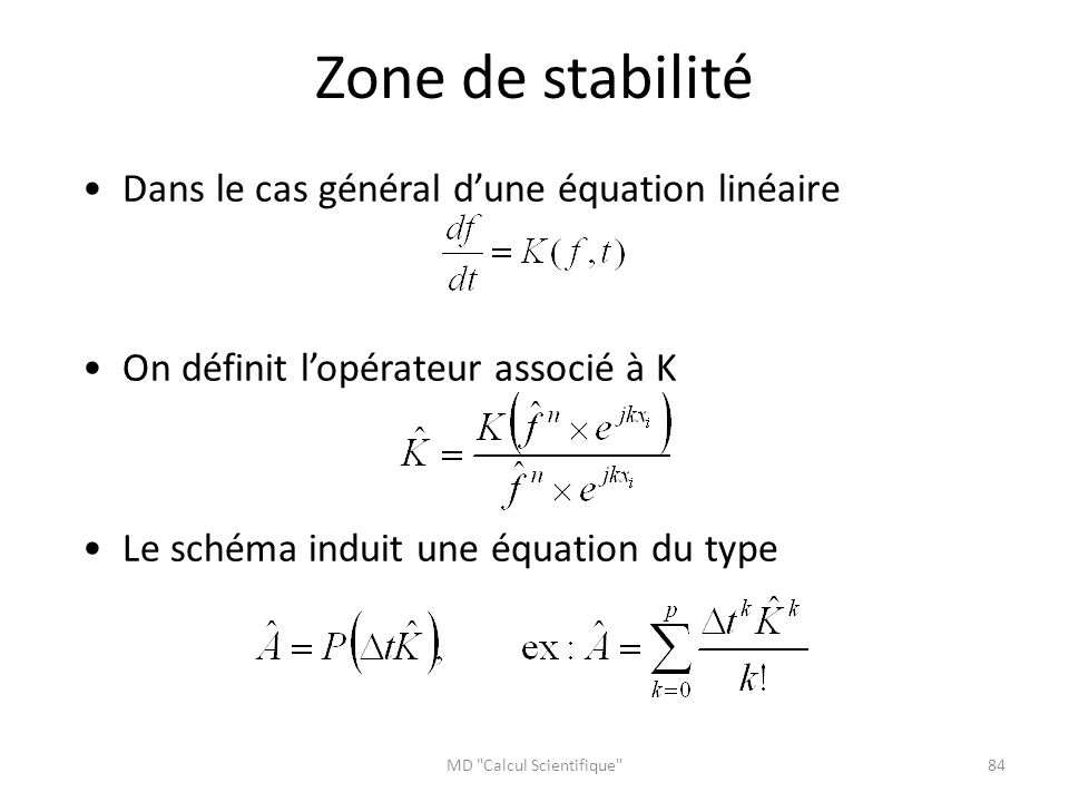 MD Calcul Scientifique