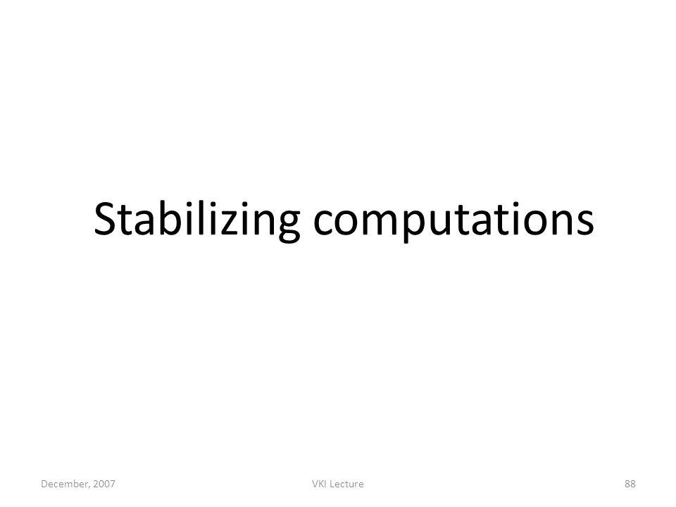 Stabilizing computations