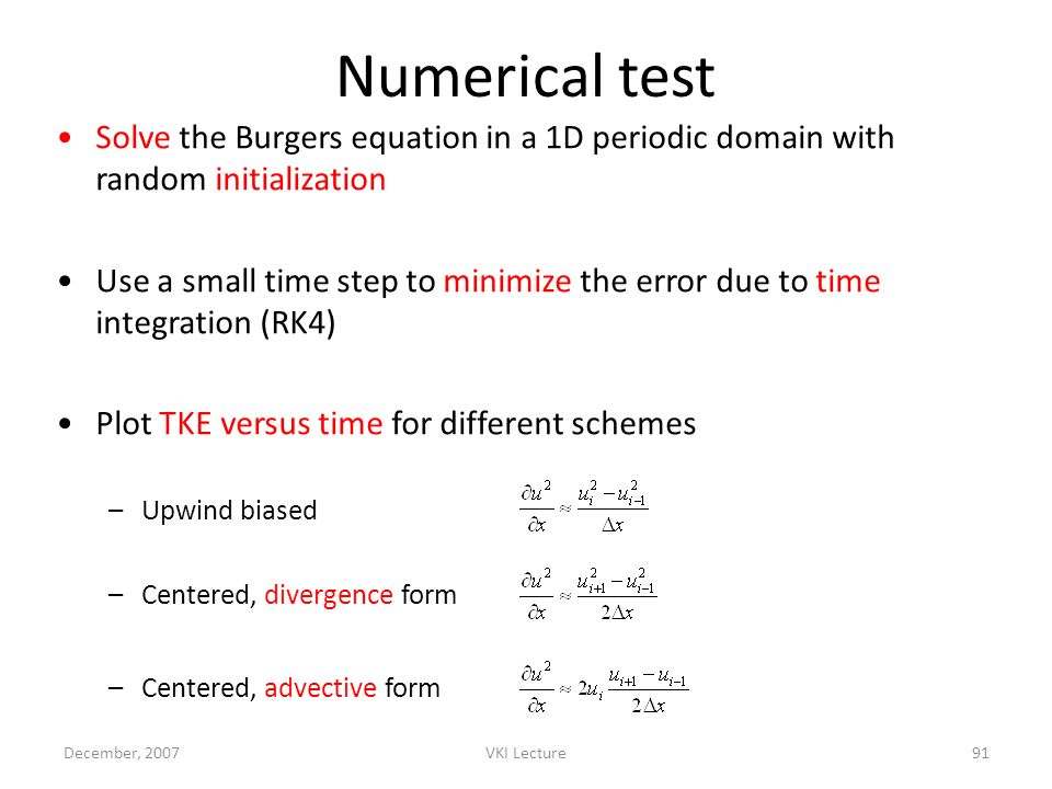 Numerical test Solve the Burgers equation in a 1D periodic domain with random initialization.
