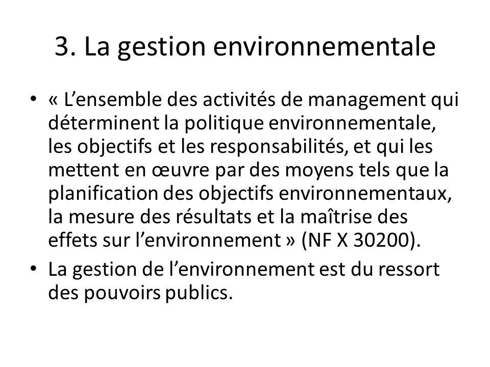 3. La gestion environnementale