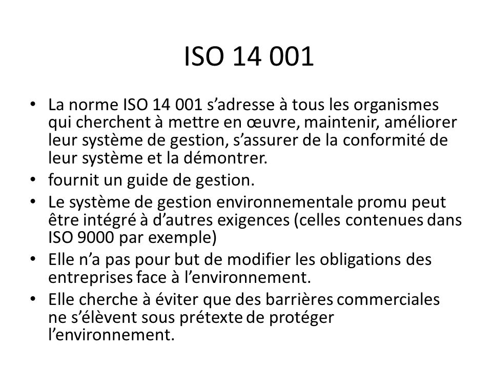 ISO 14 001