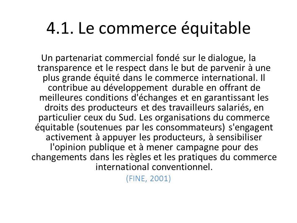 4.1. Le commerce équitable