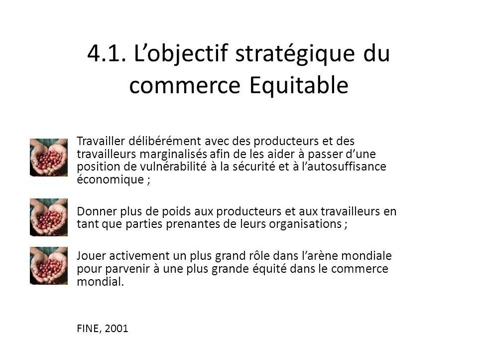 4.1. L'objectif stratégique du commerce Equitable