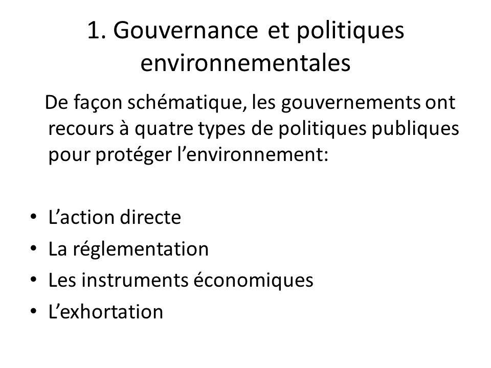 1. Gouvernance et politiques environnementales