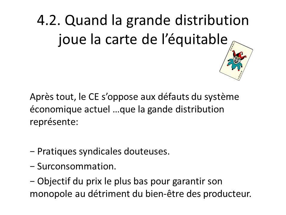 4.2. Quand la grande distribution joue la carte de l'équitable
