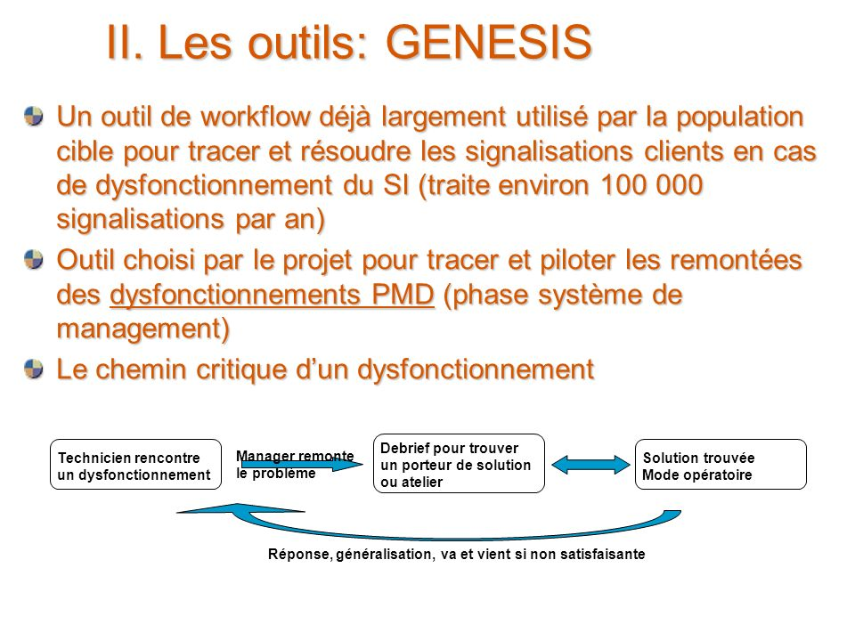 II. Les outils: GENESIS