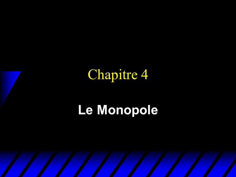 Chapitre 4 Le Monopole