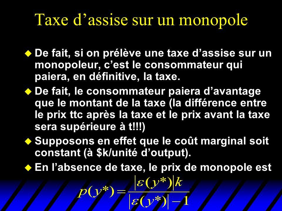 Taxe d'assise sur un monopole