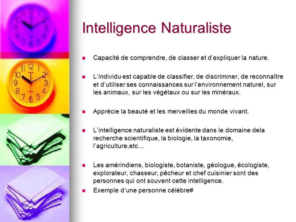 Intelligence Naturaliste