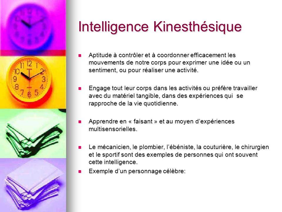 Intelligence Kinesthésique