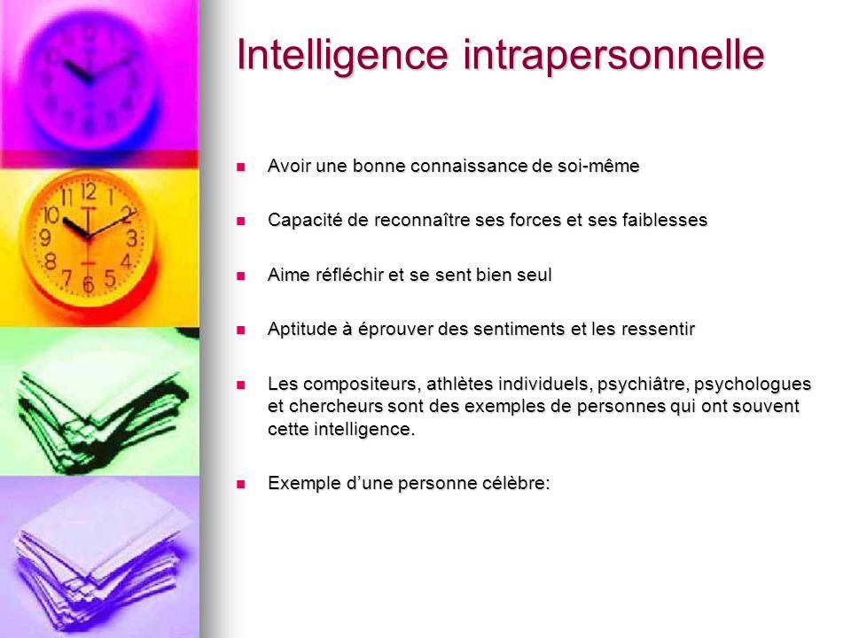 Intelligence intrapersonnelle