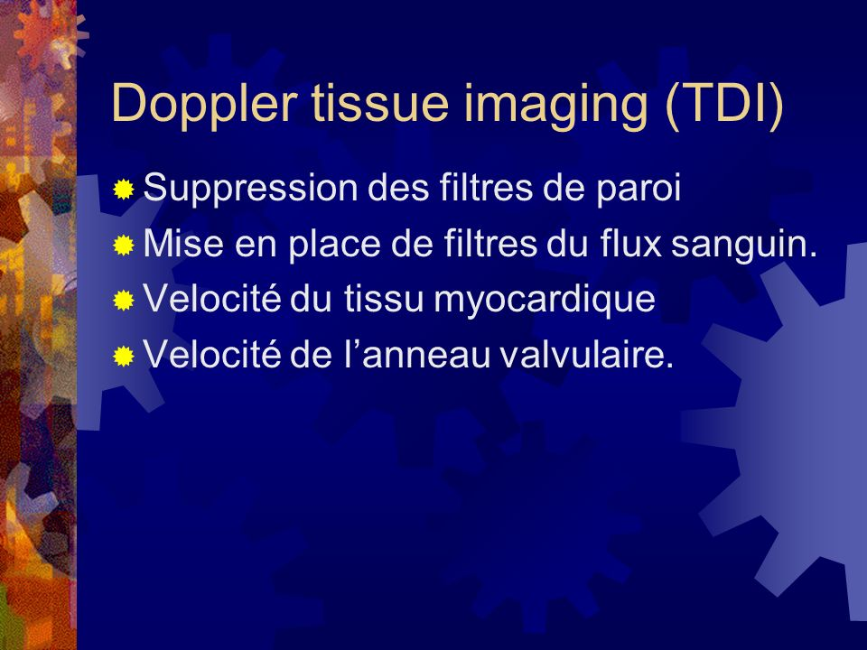 Doppler tissue imaging (TDI)