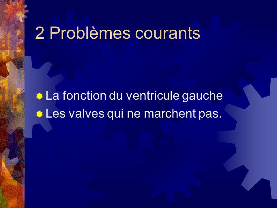 2 Problèmes courants La fonction du ventricule gauche