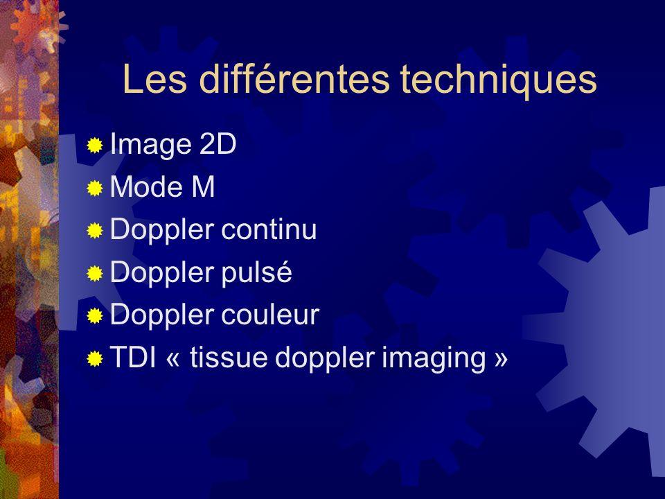 Les différentes techniques