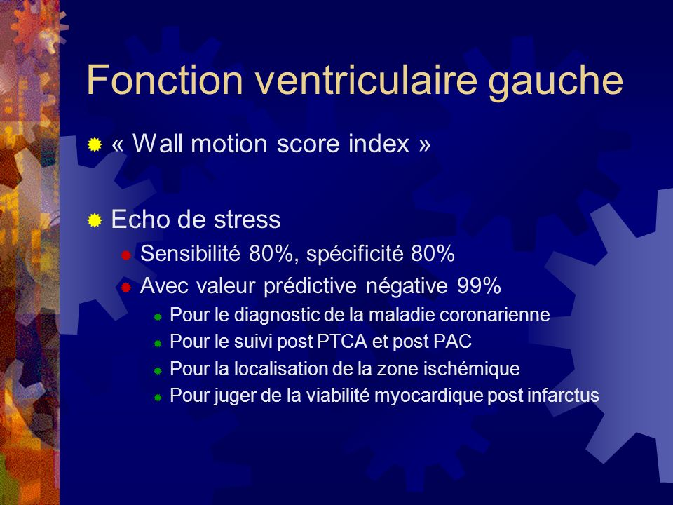 Fonction ventriculaire gauche