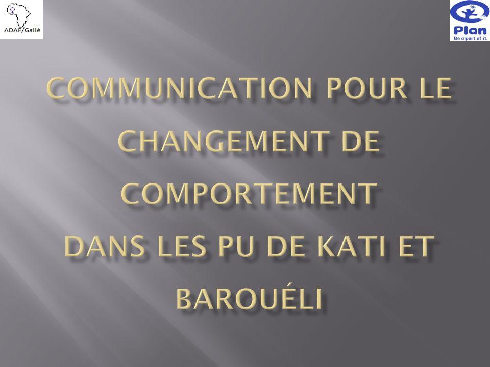 Communication pour le Changement de comportement dans les PU de Kati et Barouéli