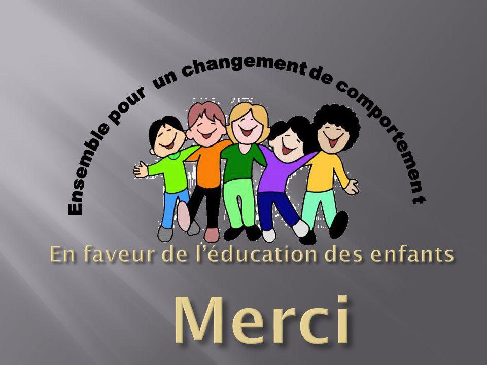 En faveur de l'éducation des enfants