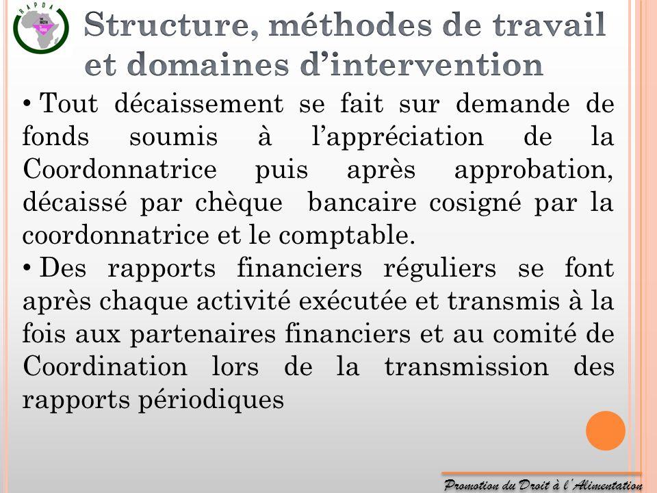 Structure, méthodes de travail et domaines d'intervention