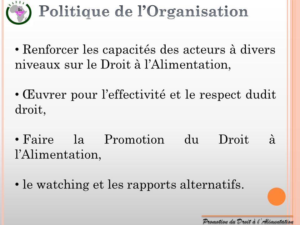 Politique de l'Organisation