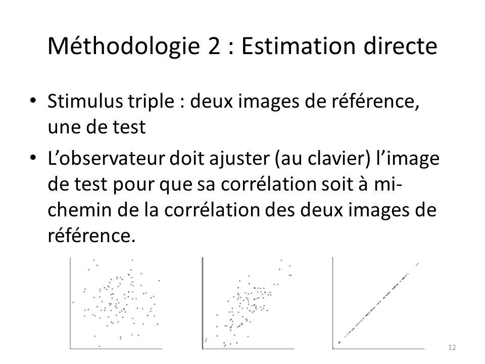 Méthodologie 2 : Estimation directe