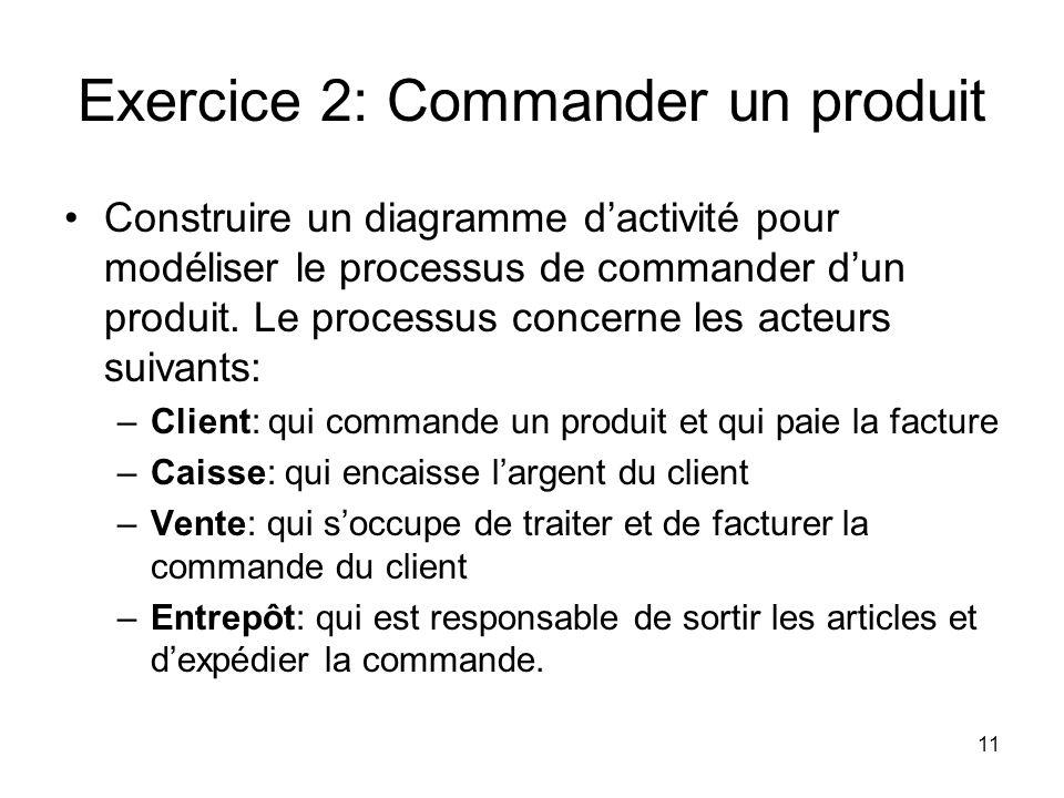 Exercice 2: Commander un produit