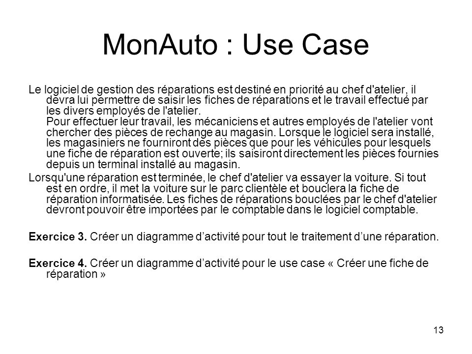MonAuto : Use Case