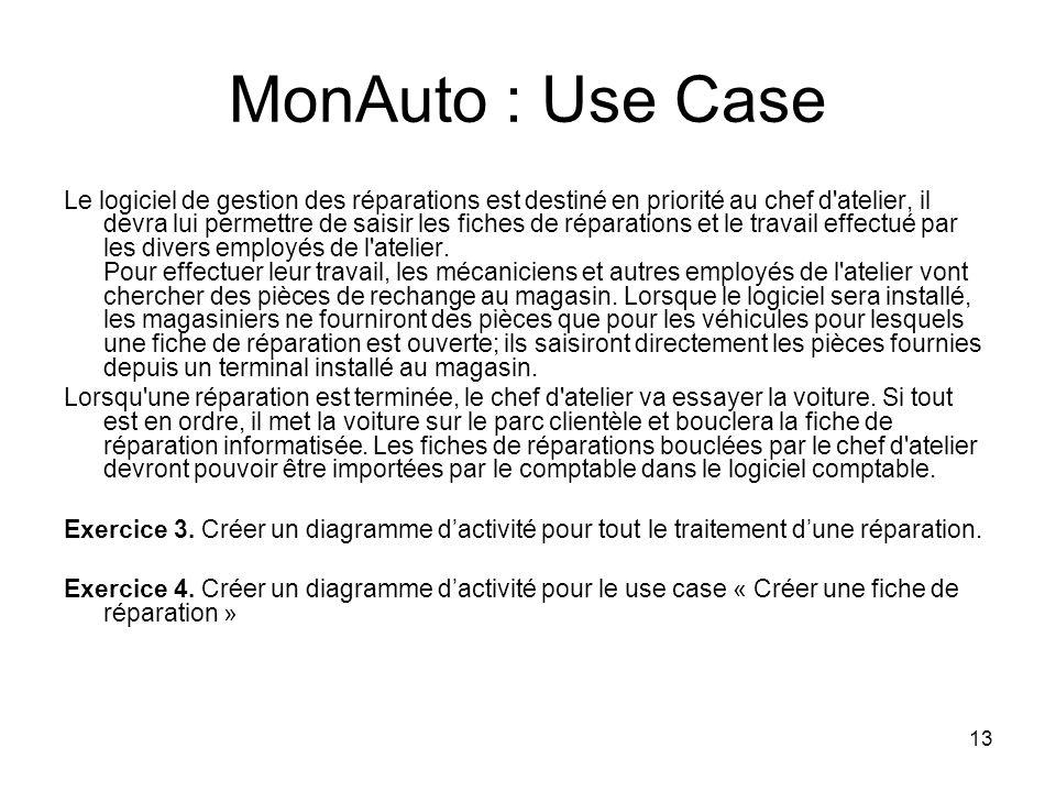 MonAuto : Use Case
