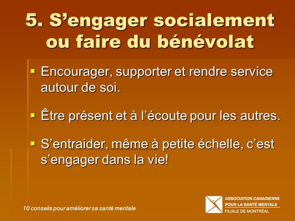 5. S'engager socialement ou faire du bénévolat