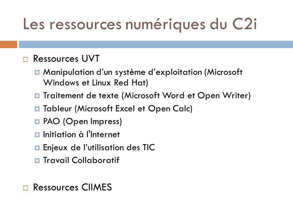 Les ressources numériques du C2i