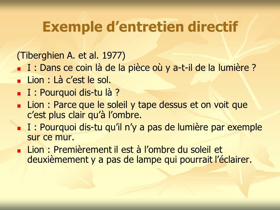 Exemple d'entretien directif