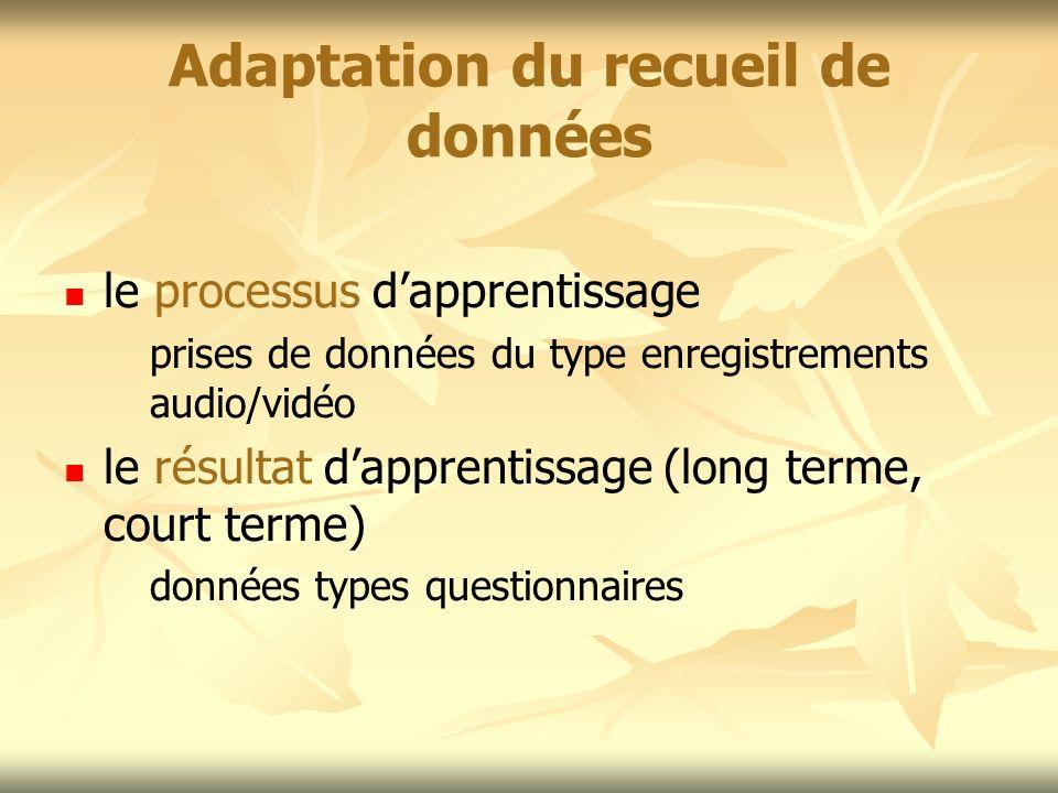 Adaptation du recueil de données