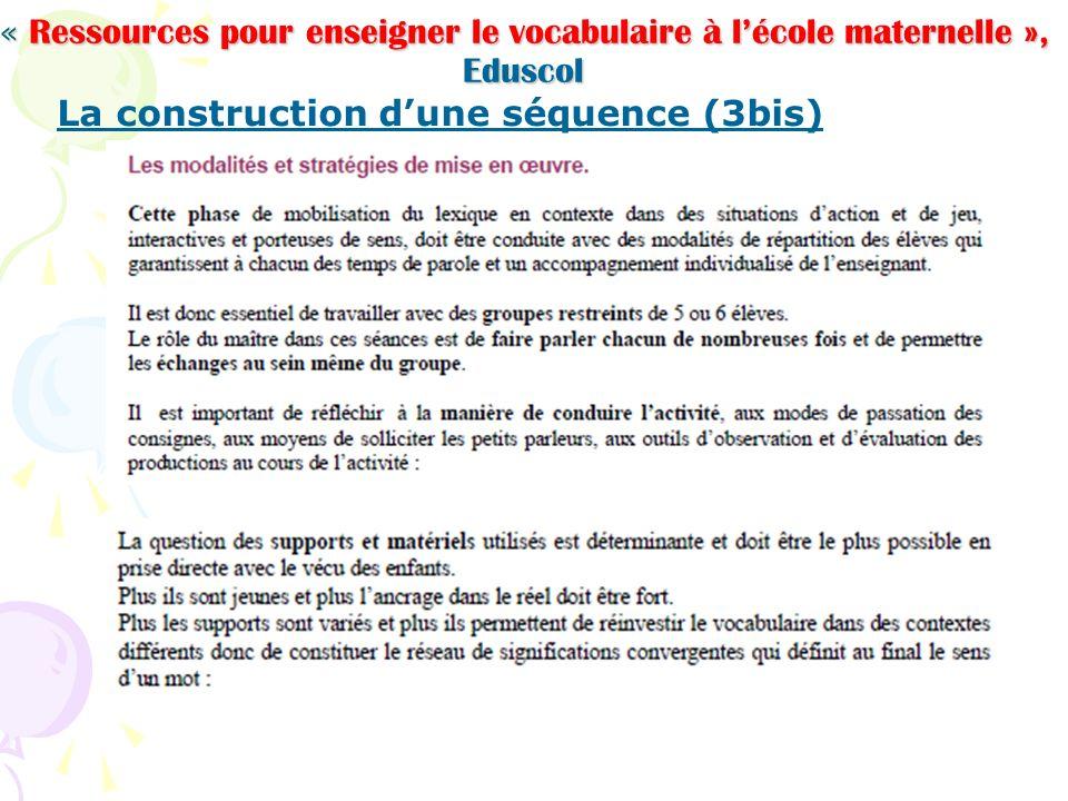 La construction d'une séquence (3bis)