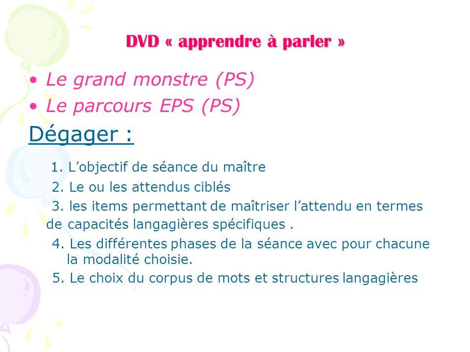 DVD « apprendre à parler »