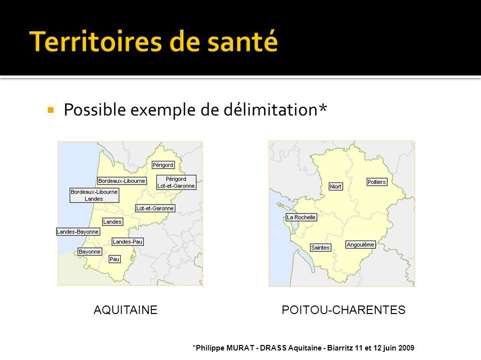 Territoires de santé Possible exemple de délimitation* AQUITAINE