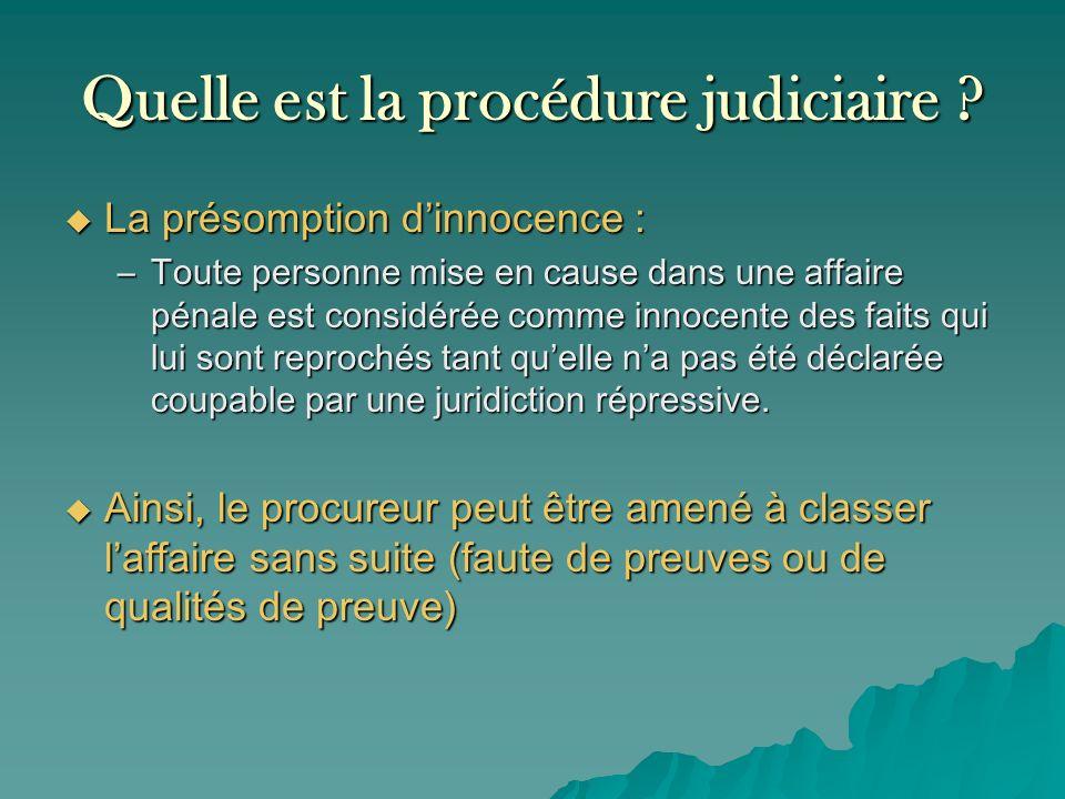 Quelle est la procédure judiciaire